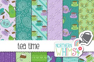 Tea Time Seamless Patterns