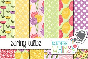 Floral Patterns - Spring Tulips