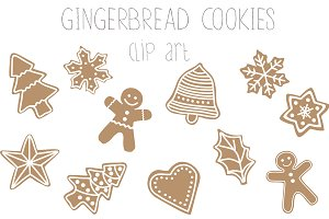 Gingerbread cookies clip art