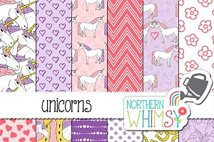 Unicorn Patterns - Pink & Purple