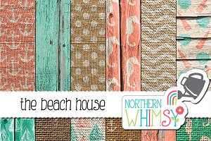Wood and Burlap Seaside Patterns