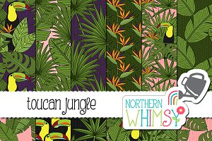 Toucan Jungle Seamless Patterns