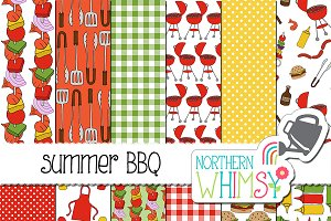 Summer BBQ Seamless Patterns