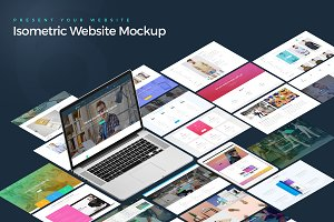 Isometric Website Mockup