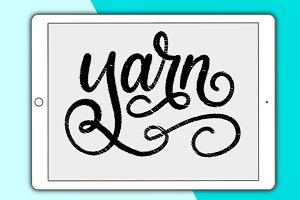 Yarn lettering brush for Procreate