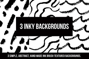 3 Inky Backgrounds