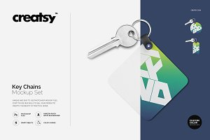 Key Chains Mockup Set