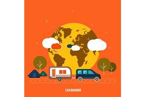 Caravaning tourism.