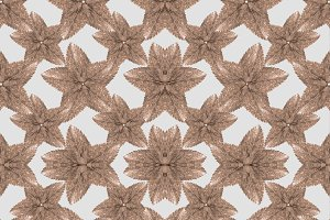 Stylized Leaves Floral Collage Seamless Pattern