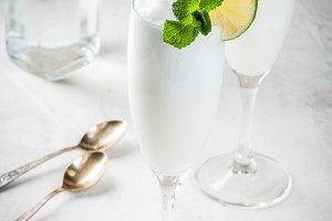 Alcoholic cocktail Sgroppino
