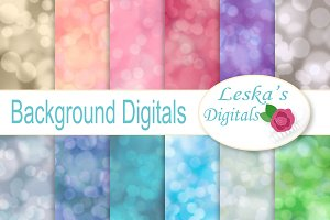 Bokeh Digital Paper - Backdrop