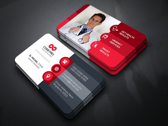 Medical doctor business card business card templates for Doctors business cards
