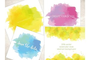 Vector watercolor style backgrounds