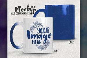 Blue Color Changing Mug Mockup