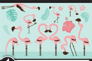 Summer Flamingo Clip art