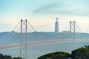 View of Lisbon 25th April bridge