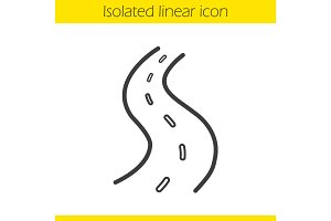 Road linear icon