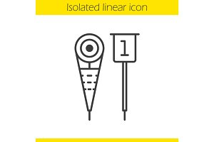 American football sideline markers linear icon