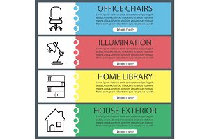 House interior banner templates set