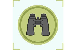 Binoculars color icon