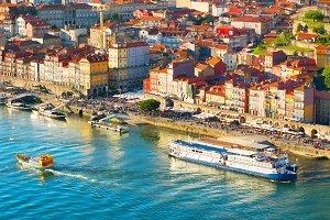 Porto quayside view, Portugal