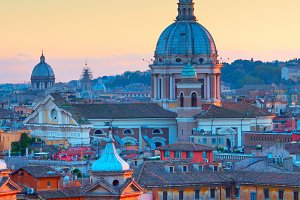 Rome Old Town at twilight, Italy