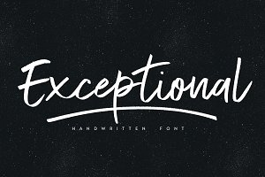 Exceptional font