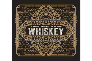 Vintage label for whiskey. You can apply this design for another