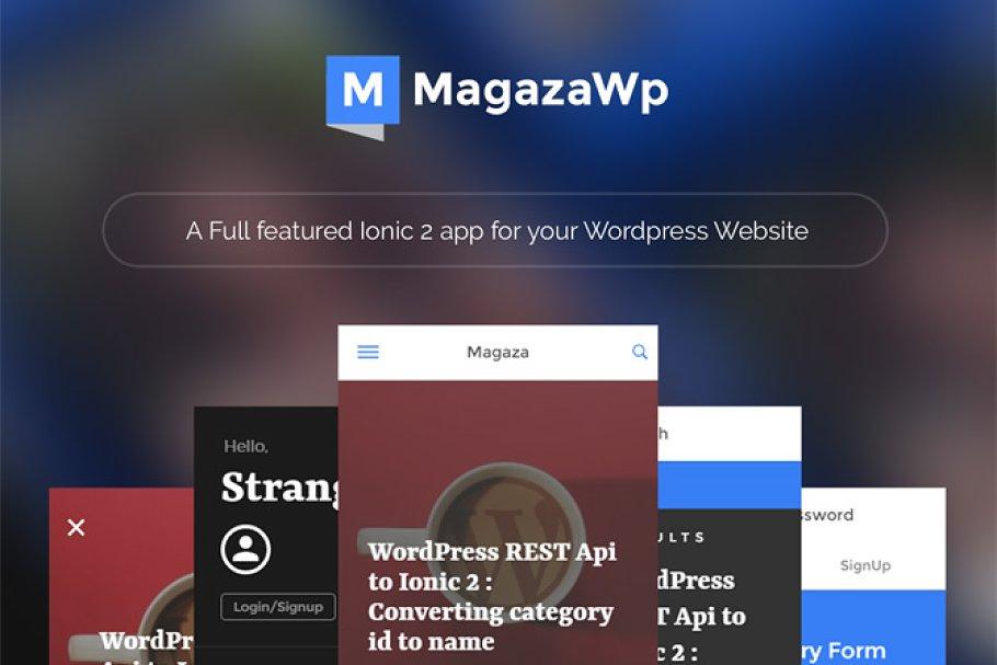 Magaza: WordPress managed Ionic2 app ~ HTML/CSS Themes
