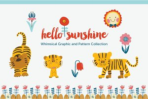 Hello Sunshine graphic & pattern set