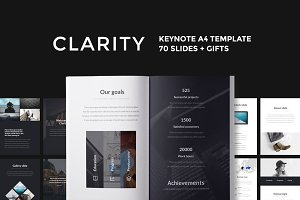 A4 | Clarity Keynote Template