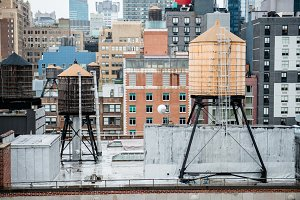 water tanks on roof in New York