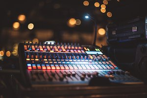 sound mixer control music equipment