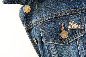Crushin' It Enamel Pin/Denim Jacket