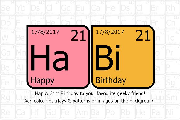 Geeky Periodic Table Font Fonts Creative Market