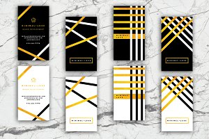 4 Golden Luxury Business Cards