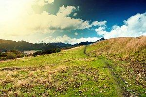 Mountains fantasy landscape.
