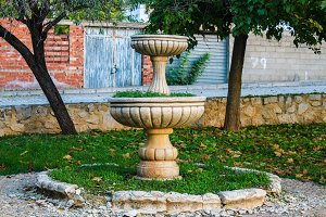 Anciient Fountain in a Village