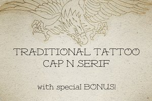Traditional Tattoo Cap N' Serif