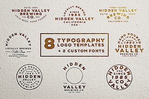 Vintage Logo Templates (+2 Fonts)