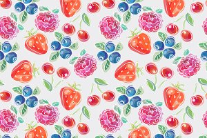 Berries seamless pattern