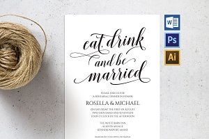 Rehearsal Dinner Invitation SHR52
