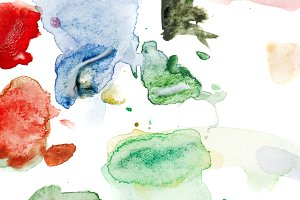 Watercolor abstraction. Palette