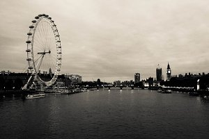 London Eye and Skyline