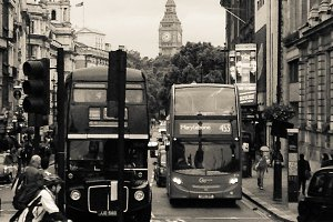 London Street with Bus