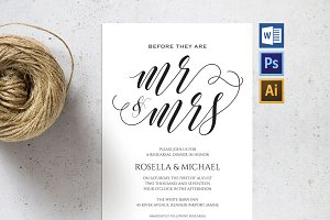 Rehearsal Dinner Invitation SHR57