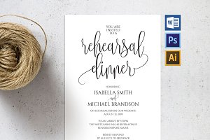 Rehearsal Dinner Invitation SHR58
