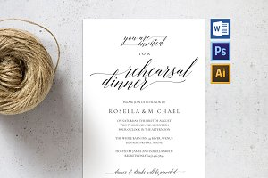 Rehearsal Dinner Invitation SHR59