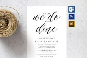 Rehearsal Dinner Invitation SHR60