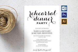 Rehearsal Dinner Invitation Wpc61